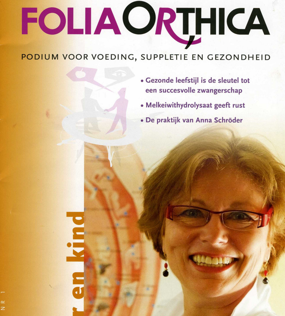 Cover Folia Orthica met Anna Schroder